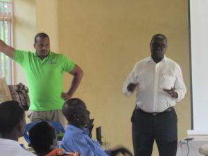 KARAMA Farid, AAA Executive Director (left); Rwandabest Managing Director, RUZIBIZA Jean Claude (right)